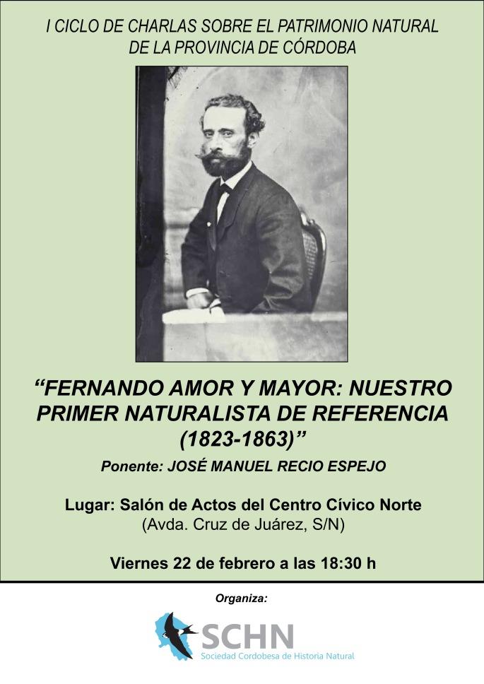 Cartel charla Fernando Amor